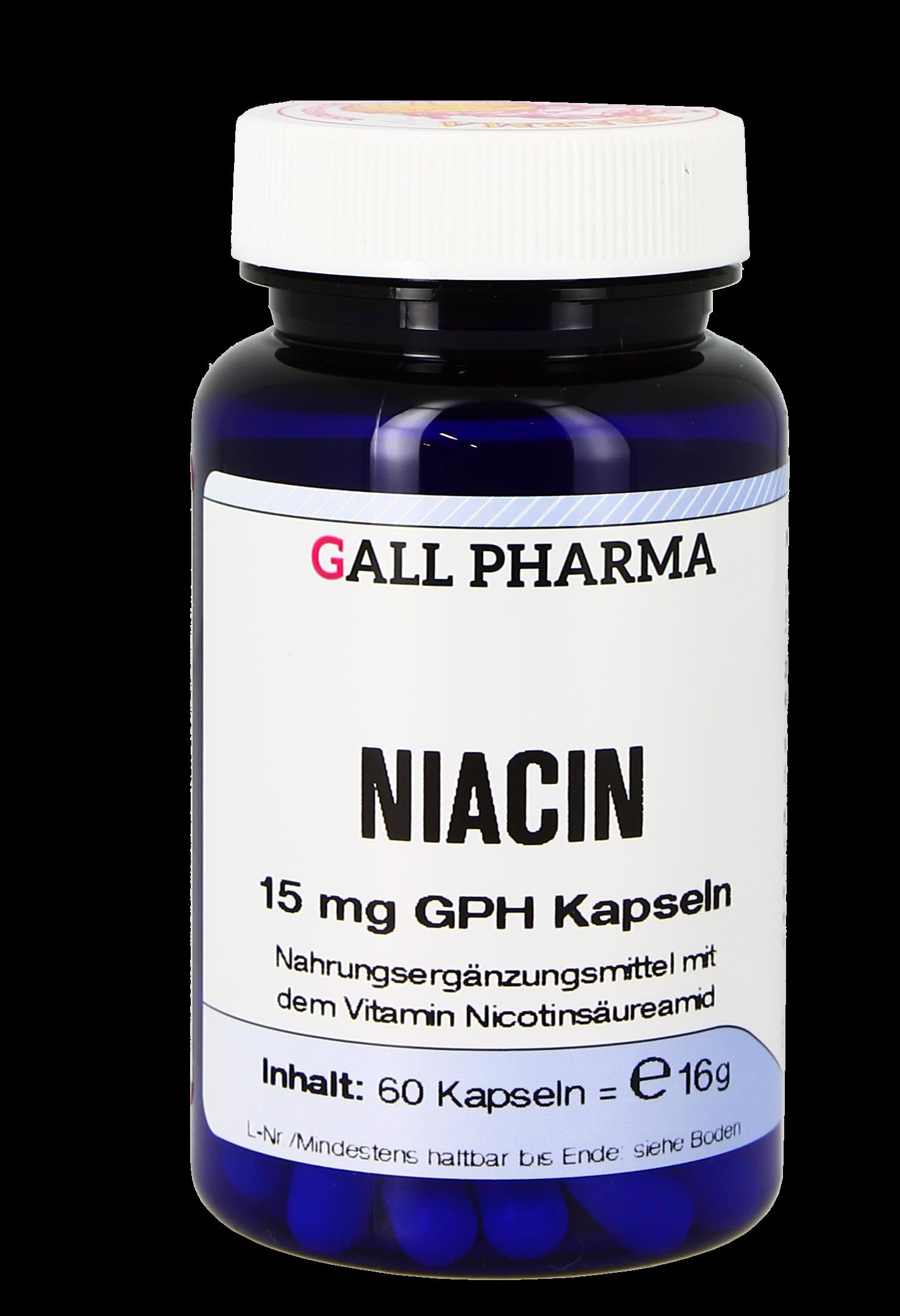 Niacin 100 mg GPH Kapseln
