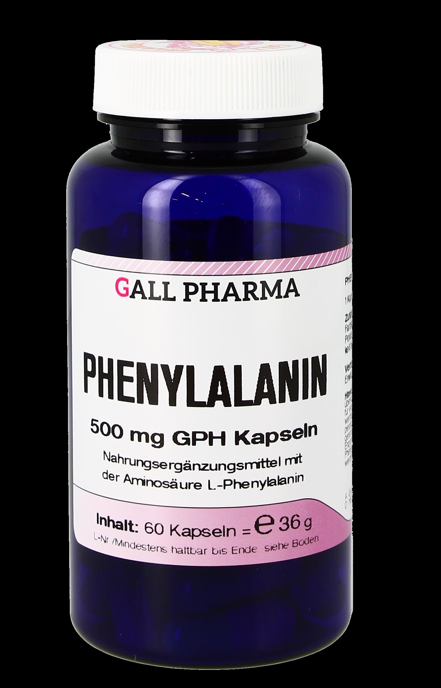 Phenylalanin 500 mg GPH Kapseln