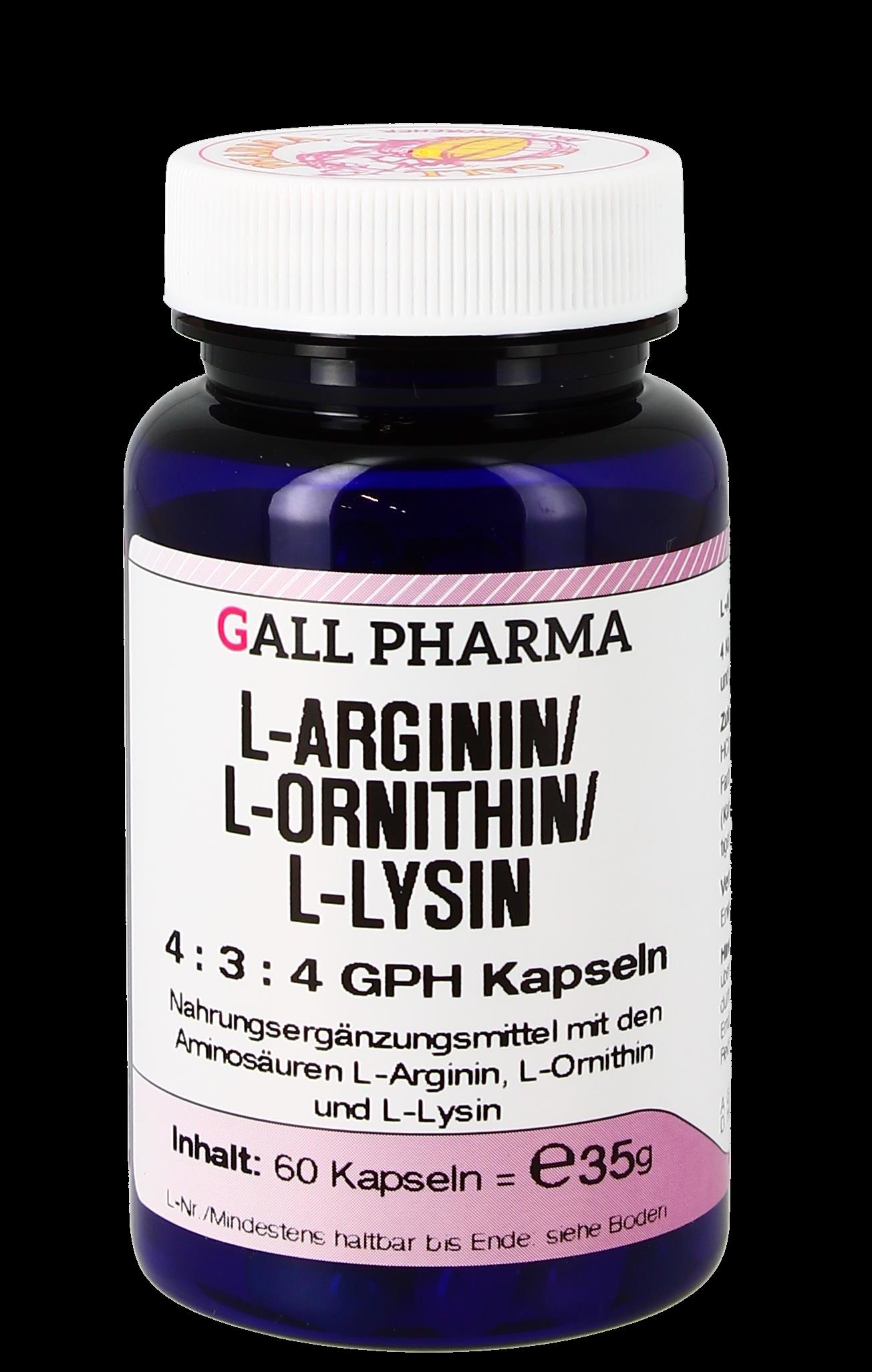 L-Arginin/L-Ornithin/L-Lysin 4:3:4 GPH Kapseln