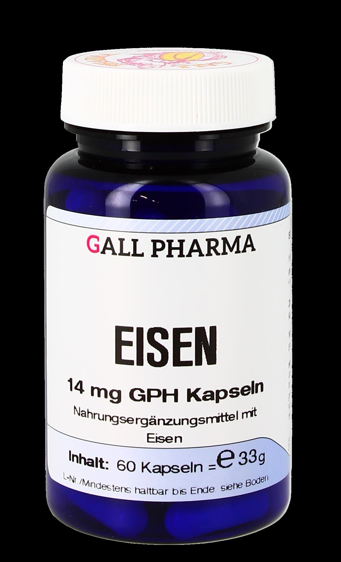 Eisen 14 mg GPH Kapseln