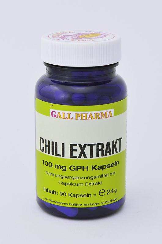 Chili Extrakt 100 mg GPH Kapseln