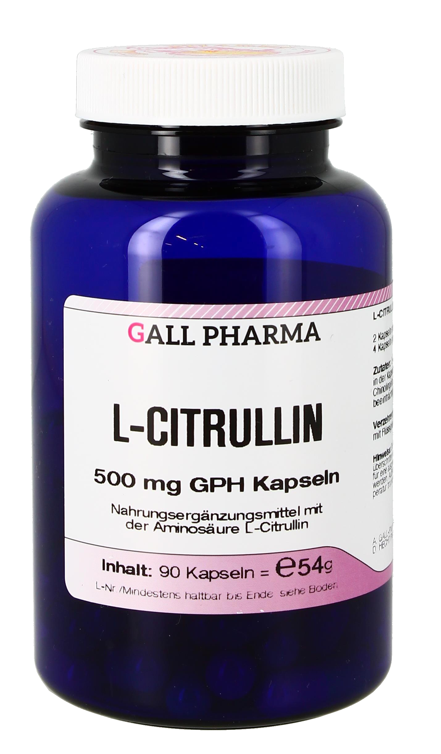 L-Citrullin 500 mg GPH Kapseln