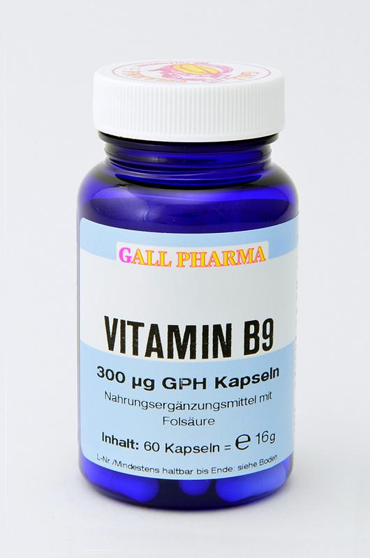 vitamin b9 300 g gph kapseln hecht pharma gmbh. Black Bedroom Furniture Sets. Home Design Ideas