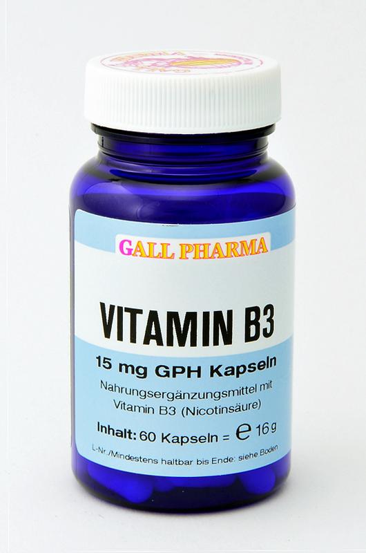 Vitamin B3 15 mg GPH Kapseln