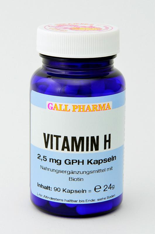 Vitamin H 2,5 mg GPH Kapseln