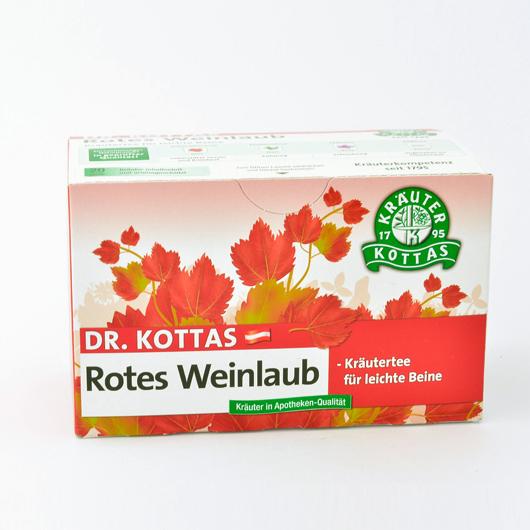 Dr. Kottas Rotes Weinlaub mit Pfefferminze Filterbeutel 20 St.