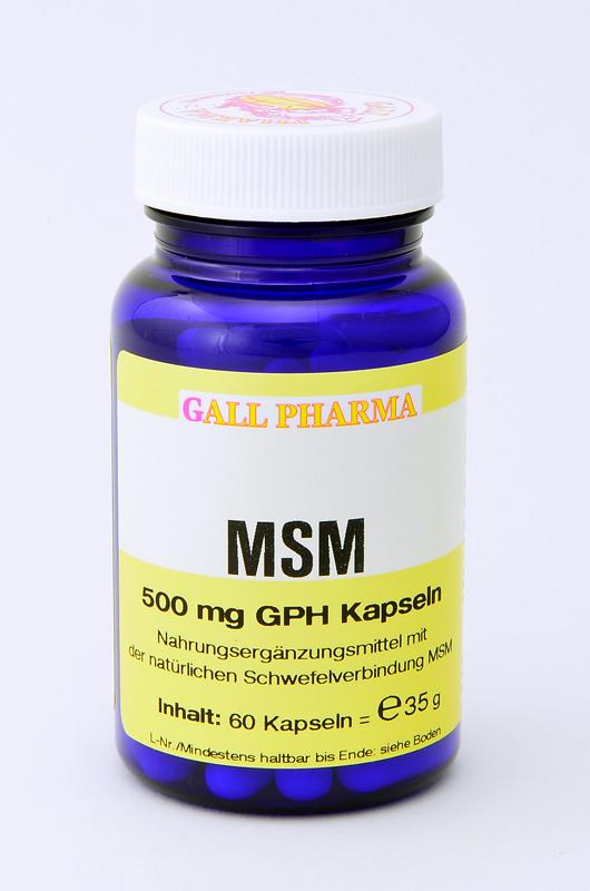 msm 500 mg gph kapseln kaufen hecht pharma gmbh. Black Bedroom Furniture Sets. Home Design Ideas