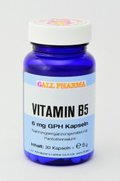 Vitamin B5 6 mg GPH Kapseln