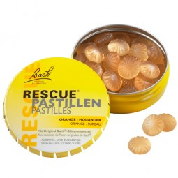 Rescue Pastillen Orange Holunder 50g Bach Original